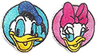 2pcs of Daisy Duck and Donald Duck Embroidered Iron On Patch/Applique