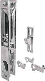 Prime-Line C 1045 Sliding Glass Door Handle Set, 6-5/8 in., Diecast, Chrome Plated, Hook Style, Flush Mount, Non-Handed