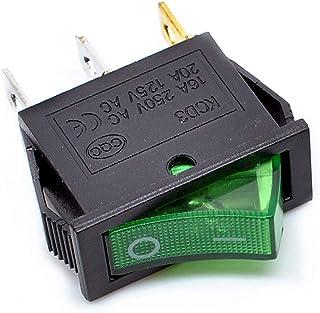 2 posiciones, 250 V, 10 A, 125 V, 12 A Interruptor basculante con 3 terminales SPST Willwin 20pcs KCD1-105