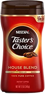 Nescafe Taster's Choice Instant Coffee, Regular, 12 Ounce (Pack of 9)