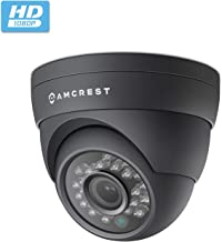 Amcrest Full HD 1080P 1920TVL Dome Outdoor Security Camera (Quadbrid 4-in1 HD-CVI/TVI/AHD/Analog), 2MP 1920x1080, 65ft Night Vision, Metal Housing, 2.8mm Lens 95° Viewing Angle, Black (AF-2MDT-28B)