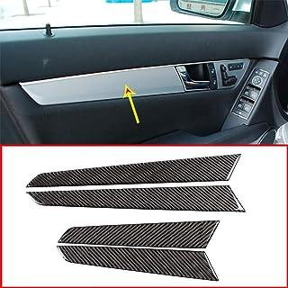 DIYUCAR 4 x Epoxi de fibra de carbono para decoración de interior de puerta Panel Pegatinas