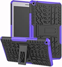 MediaPad T3 10 9.6 Inch Heavy Duty Case DWaybox Hybrid Rugged Armor Hard Back Cover Case with Kickstand for Huawei MediaPad T3 10 9.6 Inch (Purple)