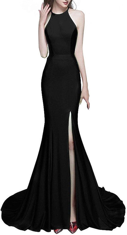 JoyVany Women High Slit Mermaid Prom Dresses Long 2018 Formal Gowns JV900
