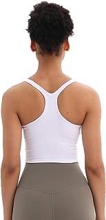 Women Longline Sports Top Yoga Bra Tanks Crop Top Fitness Workout Running Shirts