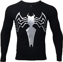 Spider Compression Shirt 3D Print T-Shirt Men Gym Tight Tops Black