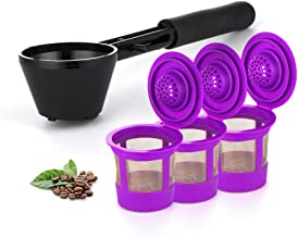 Maxware Coffee Scoop for Refillable Capsules, K Cup Filter, Keurig Reusable Filters With 3 Refillable K Cup Filters