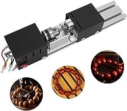Zouminyy Torno de carpintería de bricolaje, máquina de perlas CNC de mini torno Herramienta de taladro de pulido de pulido de torno de carpintería de bricolaje(EU 220V)