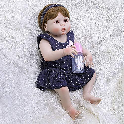 Dytxe-doll Muñecos Reborn, Bebe Reborn Juguettos, Muñeca La Moda del Renacimiento De Los 57Cm, Hermoso Regalo para Niños,A