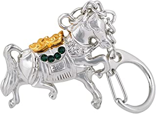Feng Shui Product - Tribute Horse Amulet Keychain + Free Red String Bracelet W1076