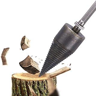 Hemoton Firewood Log Splitter Drill Trä Splitter Borrbits Robust Borr Skruvkon Driver för Handborr Stick M