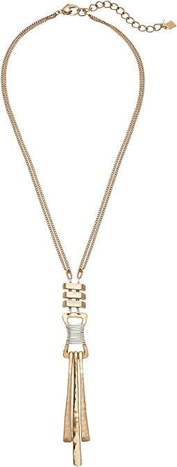 Robert Lee Morris - Two-Tone Wire Wrap Y-Necklace