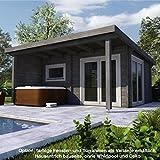 Unbekannt Infraworld Poolhaus Living 1 Größe 505 x 385 cm in Nord. Fichte 391050 Exklusive Ausführung
