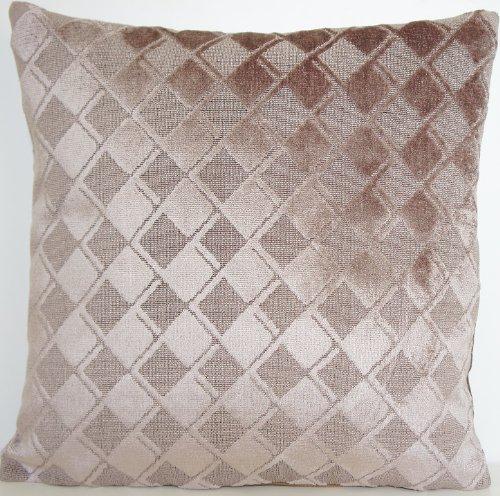 Housse de coussin en velours gris DESIGNERS GUILD en tissu couvre-lit Motif géométrique taie d'oreiller Bouleau Argenté Tome