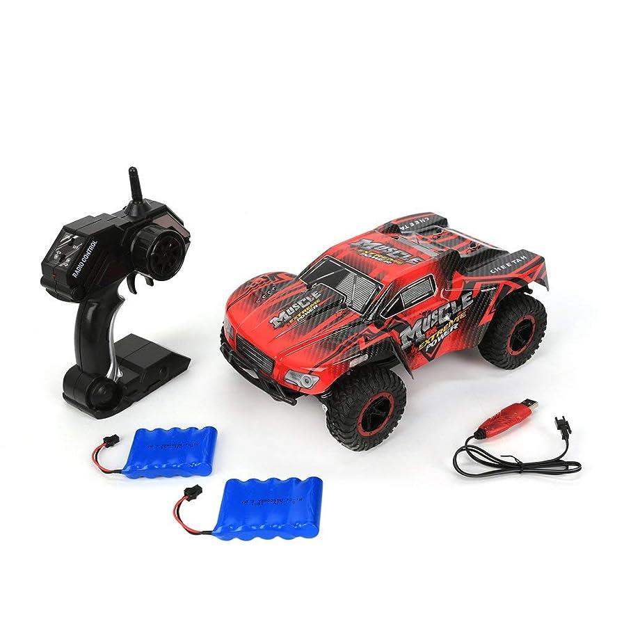 クマノミ同意するリテラシーDEER MAN 1:16リモートコントロールモデル25KM / Hオフロード車500mAh 2.4GHzクライミングカークロスカントリー車両おもちゃ2バッテリー(赤)