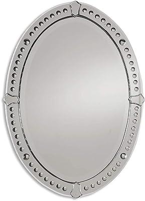 Alfa Design:- Oval Bubbles Frameless Mirror   Bathroom Mirror   Lobby Mirror   Living Room Area