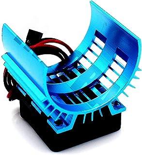 Nuevo Disipador de calor del motor y ventilador de refrigeración para 1/10 HSP RC Car 540/550 3650/3660 Motor 1/10 Axial SCX10 II 90046 90047 RC electrico Piezas de automóvil Rc Crawler