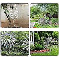 Errum Unique and Magical Metal Windmill, Outdoor Wind Spinners 3D Wind Powered Kinetic Sculpture, Solar Wind Spinner Catcher Lawn Kinetic Wind Spinner for Outdoor Yard Garden Decoration