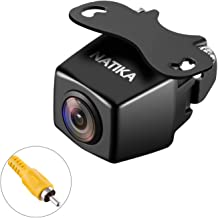 NATIKA 720P Backup/Front View Camera, IP69K Waterproof Starlight Night Vision High Definition and Super Wide Angle Reverse Rear View Backup Camera for Cars Jeep Trucks SUV RV Van