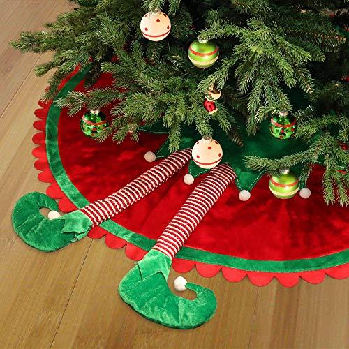 Valery Madelyn 91cm Falda árbol Navidad Pierna Elfo