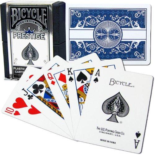 Poker Bicicleta Jugando a Las Cartas (Azul) de prestigio de 100% plástico Dura-Flex - Raro Bicycle Prestige Playing Cards (Blue) 100% Plastic Dura-Flex - Rare