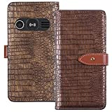 TienJueShi Gold Luxury Flip Stand Leather TPU Silicone