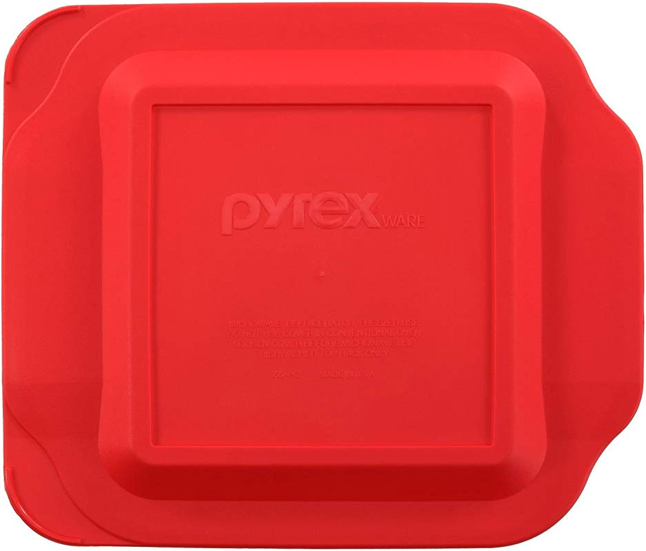 Pyrex 222 PC 2 Quart 8 X 8 Baking Dish Lid Will NOT Fit Easy Grab Baking Dish