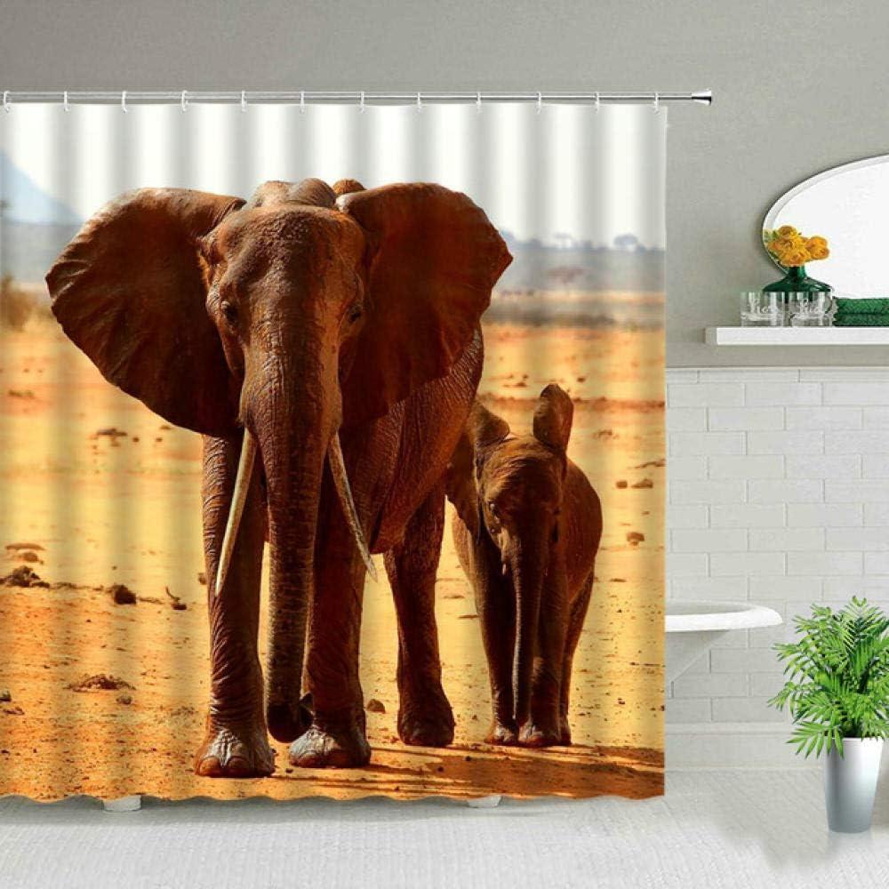 Black Backdrop Curtain Surprise price Max 46% OFF Set Wild Print Animal Decor Home Bathroom