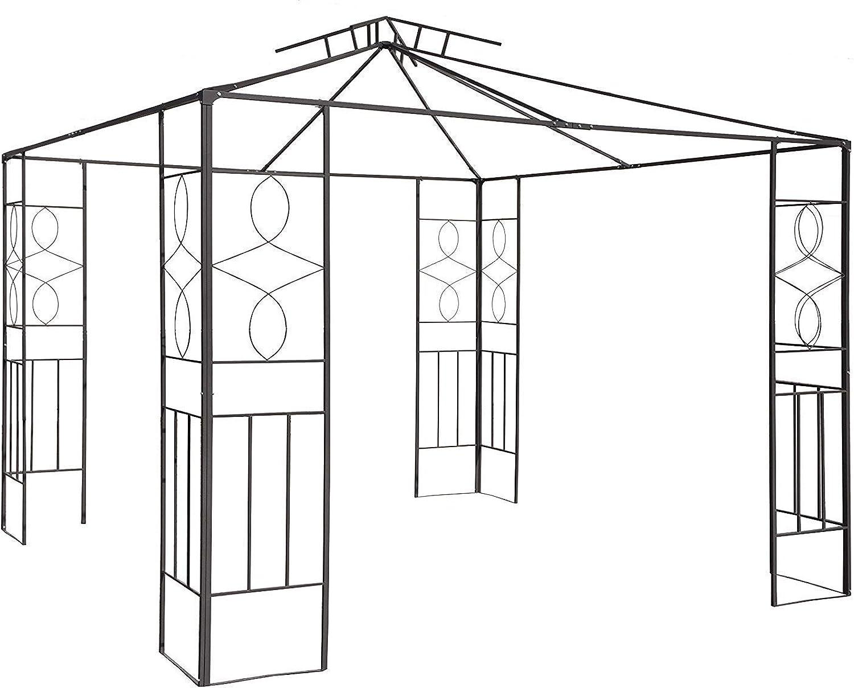 Habeig Pavillongestell Metalll Pavillon 3x3m Pavillion Ersatzgestnge Gartenpavillon Ersatzgestell (Gestell Romantika)