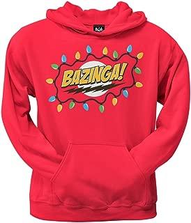 Big Bang Theory - Christmas Lights Bazinga Red Pullover Hoodie - 3X-Large