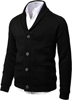 H2H Mens Casual Premium Slim Fit Knitted Jackets Thermal Warm Long Sleeve of Various Styles