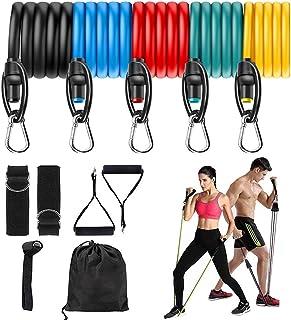 comprar comparacion Juego de bandas de resistencia Vivibel para fitness, bandas de resistencia, juego con 5 tubos de fitness, asas, anclaje de...