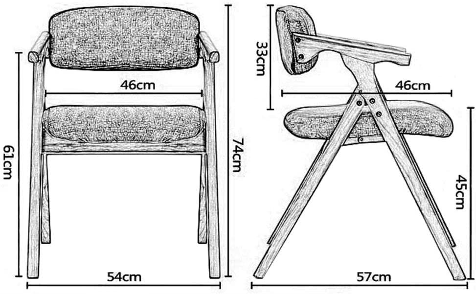 ?Chaise de négociation, Chaise de Salle à Manger en Bois Massif, Chaise Pliante en Tissu Minimaliste Moderne, Fauteuil de Loisirs, Chaise d'Ordinateur, 4 Couleurs, Bois 1