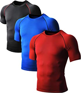 Men's Cool Dry Compression Baselayer Quick Dry Running Shirt