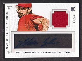 2014 Panini National Treasures Baseball Signature Materials #69 Matt Shoemaker Auto Jersey 72/99