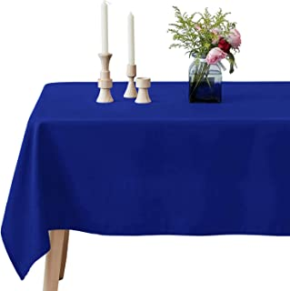 VEEYOO Rectangle Tablecloth - 60 x 126 Inch Polyester Table Cloth for 6 Foot Table - Soft Washable Oblong Royal Blue Table Cloths for Wedding, Parties, Restaurant, Dinner, Buffet Table and More