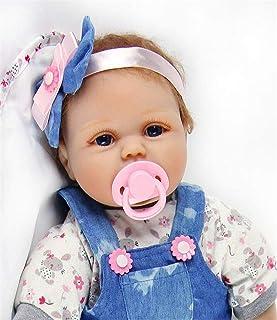 comprar comparacion ZIYIUI Realista 55 cm Muñeca Bebe Reborn Muñecos bebé Niña Vinilo Suave Silicona Reborn Baby Dolls 22 Pulgadas Niños Juguete