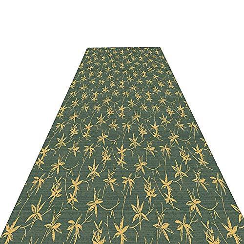 QIANCHENG-carpets Tappeto Corridoio Passatoia Tappeto Lungo Modello Foglia Antiscivolo Macchina for la riduzione del Rumore Lavabile, Personalizzato, Spessore 7 mm (Size : 0.9X6m)