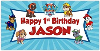 Paw Patrol Birthday Banner Personalized Party Backdrop Decoration