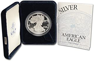 1999 P Proof American Eagle Silver Dollar with Original Packaging and COA $1 PR DCAM US Mint
