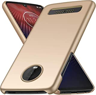 Moto Z4 Play Case,Moto Z4 Case, Almiao [Thin Fit] Minimalist Slim Protective Phone Case Back Cover for Moto Z4 Play/Moto Z4 (Smooth Gold)