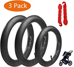 [3-Pack] Two 16'' + One 12.5'' Stroller Tire Tubes Replacement for BOB Revolution Strollers Inner Tire Tubes Replacement for Front & Back Wheel Includes 2 Plastic Tire Lever