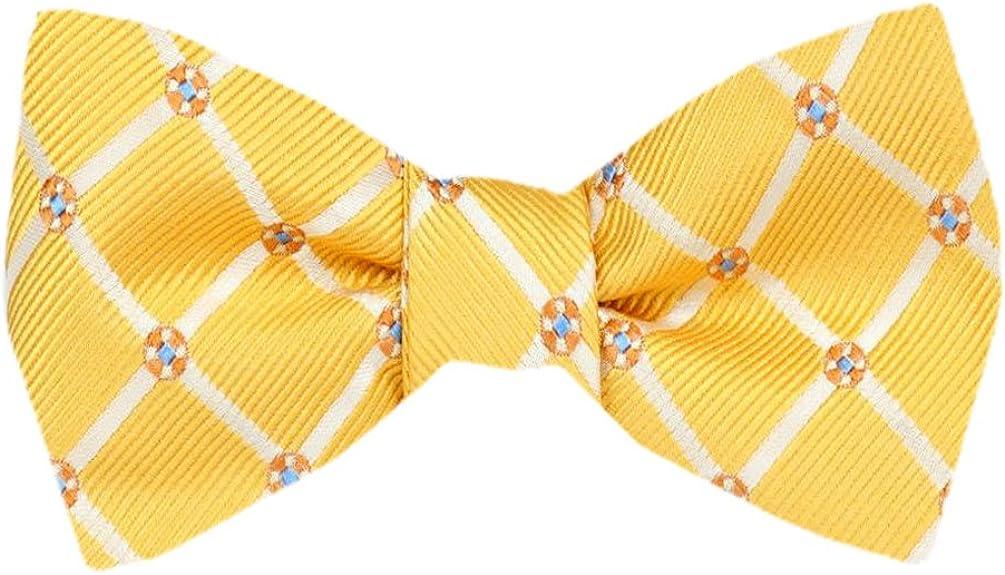 FBTZ-1546 - Men's Silk Self Tie Bowtie Tie Yourself Bow Ties