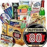 Oldtimer 80 / Geschenke zum Geburtstag Opa / Geschenkpaket DDR Spezialitäten