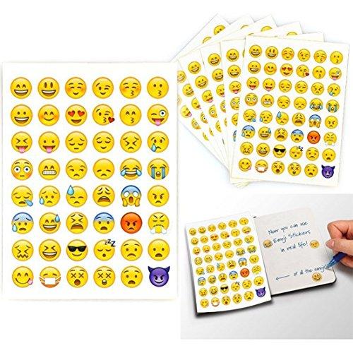 2 Sheet 96 Die Cut Charming Random Emoji Stickers Smile Face Button Home Creative Cartoon Cellphone Ihome Iphone Phone Plus Touch Replacement Sticker Kids Kit Piece Set Cute Color Decor Design