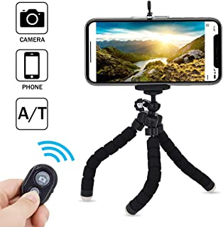 Selfie stick,Multifunction Phone Tripod,Flexible Tripod with Wireless Remote Shutter, Compatible with iPhone/Android Samsung,Mini Tripod Stand Holder for Camera GoPro/Mobile Cell Phone