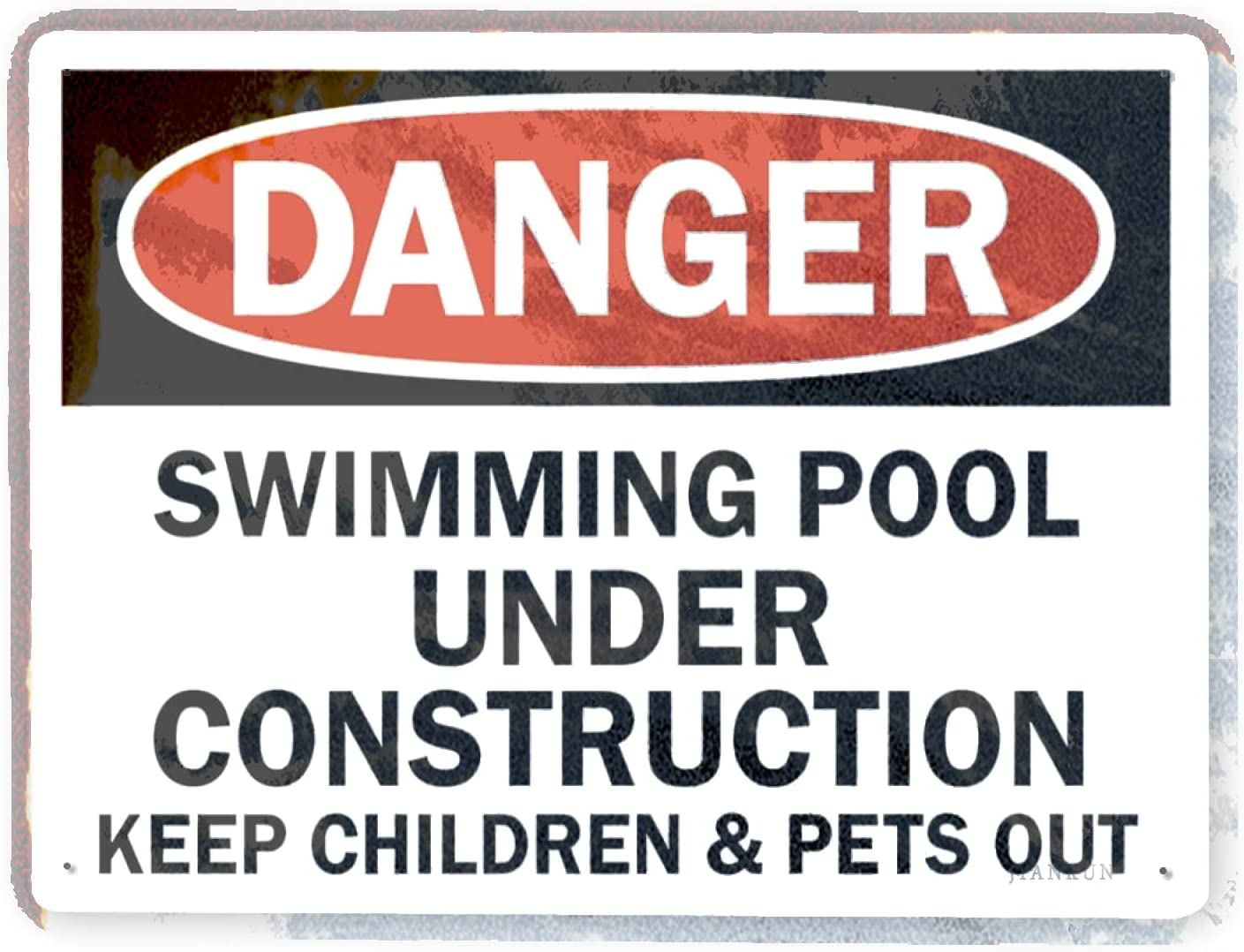 Man Cave Decor 2 Pieces Year-end annual account Ultra-Cheap Deals Warning danger Sign Swimming U Pool