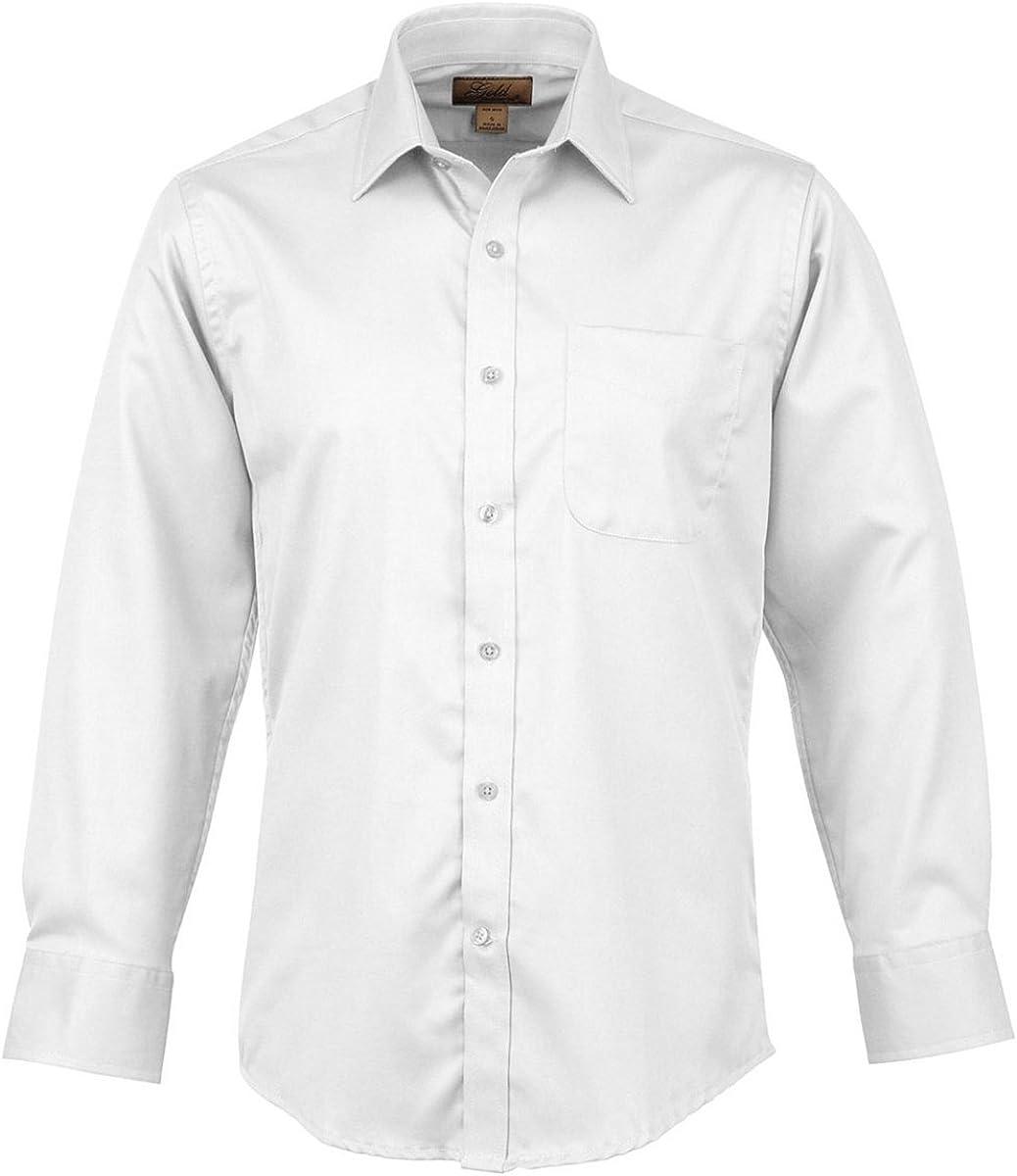 Tri-Mountain Gold Wrinkle Free 100% Cotton Twill Dress Shirt - 980 Blake