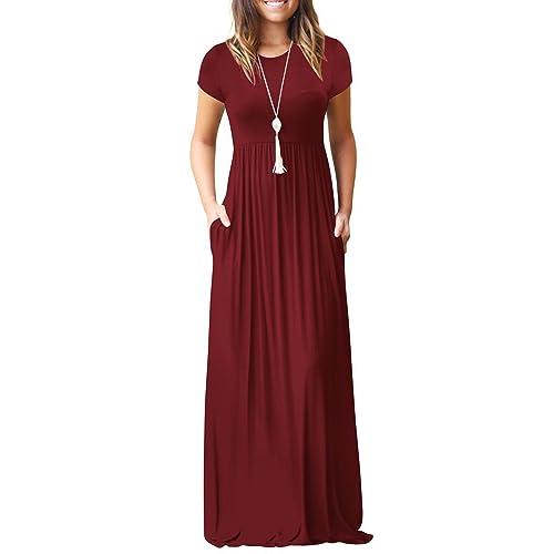 Xclusive Collection New Womens Plus Size Plain Long Jersey Scoop Neck Maxi Dress S-1X L, Wetlook