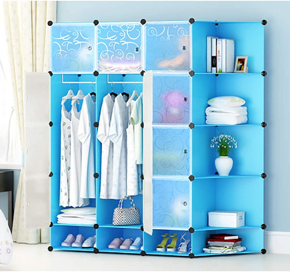 Portable Wardrobe for Hanging Clothes Combined Space-Saving